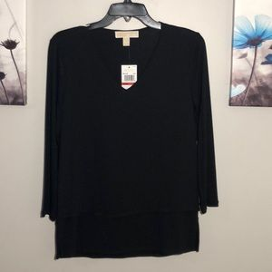 Michael Michael Kors Mixed Media Layer Front Top